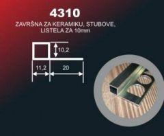 ALU lajsna ugaona 4310 10 mm