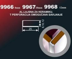 ALU lajsna ugaona 9966 8 mm