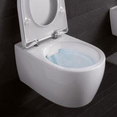 GEBERIT iCON Round RIM-FREE WC šolja konzolna + daska