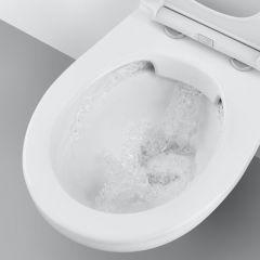 KOMPLET 2 Grohe HROM ovalna tipka, set sa GROHE BAU WC šoljom