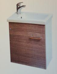 Ormarić 45cm WHITE/CARAMEL viseći sa lavaboom