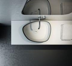 METAMORFOSI 42550 lavabo 55x42 cm BLACK-WHITE