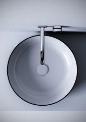 METAMORFOSI Tondo lavabo 45 cm BLACK-WHITE