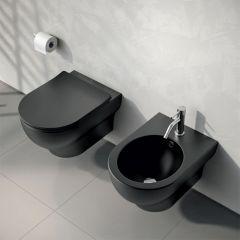 CLEAR WC šolja RIMLESS konzolna BLACK MATTE