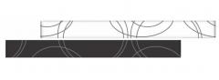 RAMONA Nero staklena bordura