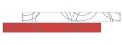 RAMONA Rosso staklena bordura