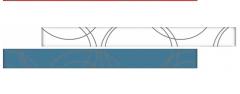 RAMONA Blue staklena bordura