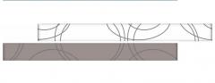 RAMONA Gray staklena bordura