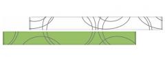 RAMONA Pistacio staklena bordura