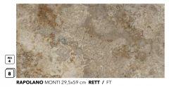 RAPOLANO Monti 29,5x59 RETT