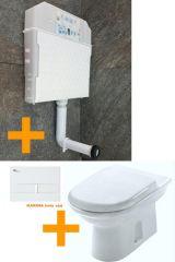 KOMPLET VISAM ugradni set sa podnom WC šoljom i daskom